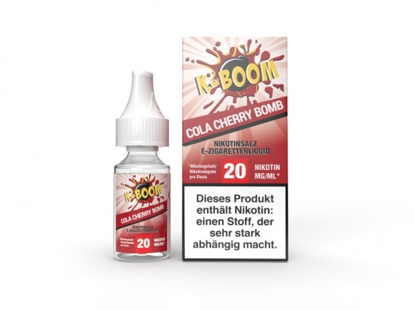 Cherry Cola Bomb Liquid 10 ml Nic Salt 20 mg