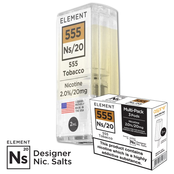 555 Tabak 20mg Nic Salt gusto mini