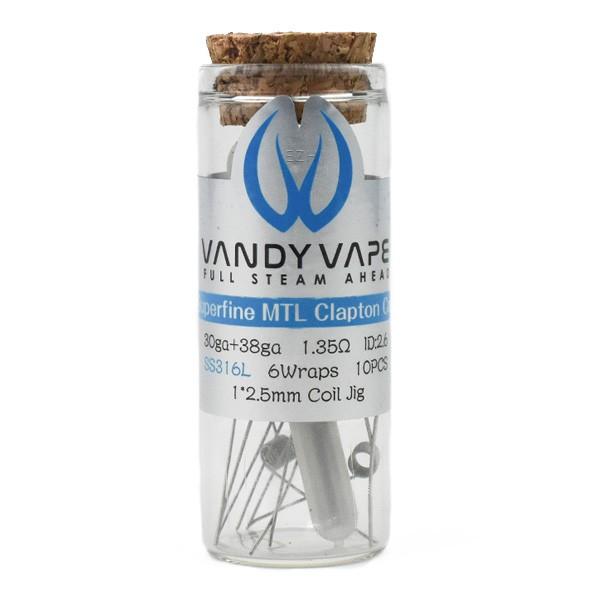 Vandy Vape - Prebuilt SS316L Superfine MTL Fused Clapton Coil 1.35 Ohm - P9