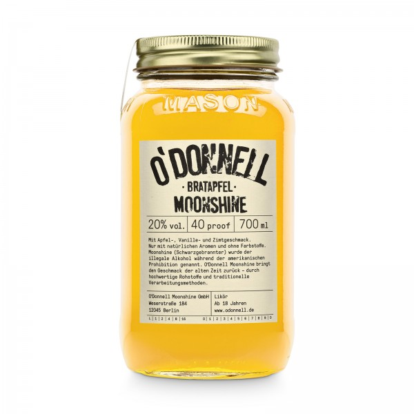 O'DONNELL MOONSHINE - Bratapfel 20% vol. Likör