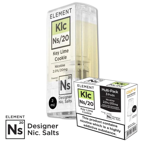 KLC Key Lime Cookie 20mg Nic Salt gusto mini