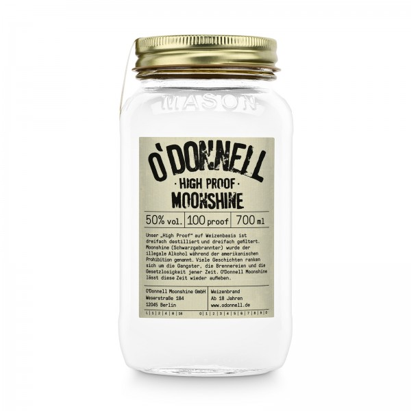 O'DONNELL MOONSHINE - High Proof 50% vol. Spirituose