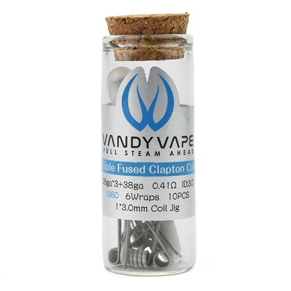 Vandy Vape - Prebuilt Ni80 Triple Fused Clapton Coil 0.41 Ohm - P4