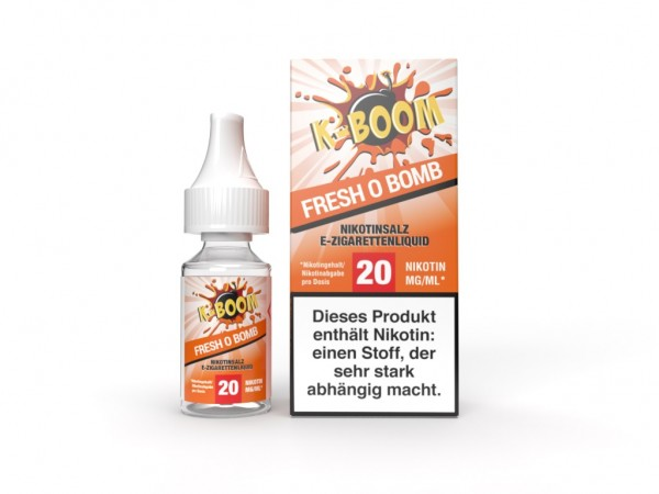 Fresh O Bomb Liquid 10 ml Nic Salt 20 mg