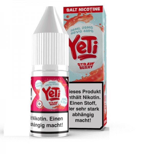 Yeti - Strawberry Nikotinsalz Liquid