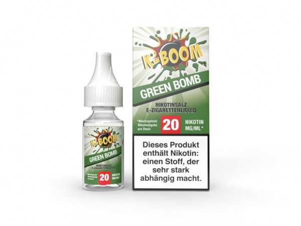 Green Bomb Liquid 10 ml Nic Salt 20 mg