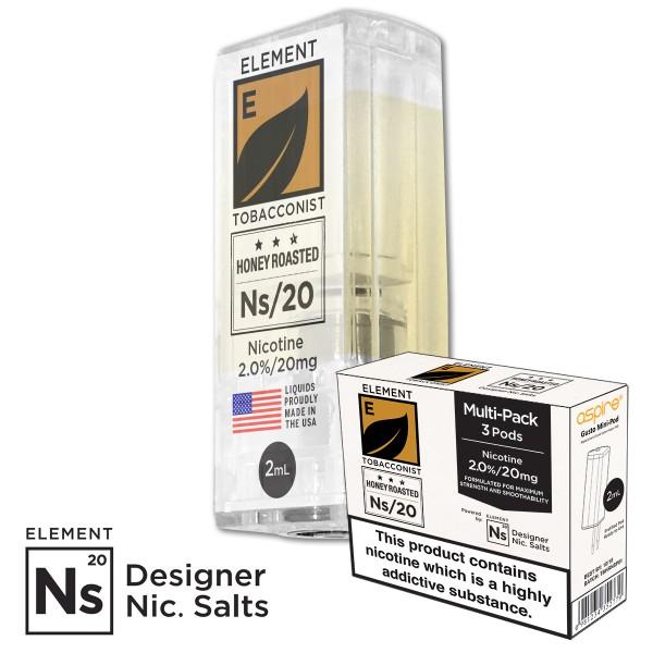 TBHR Tobacconist Honey Rosted 20mg Nic Salt gusto mini