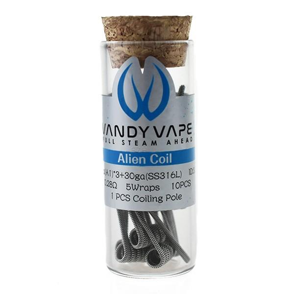 Vandy Vape - Prebuilt A1 SS316L Alien Coil 0.28 Ohm - P15